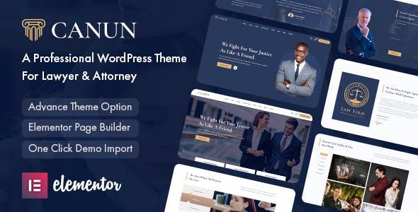 Canun - Lawyer & Attorney WordPress Theme