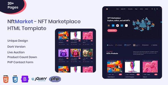 NftMarket - NFT Marketplace Responsive HTML Template
