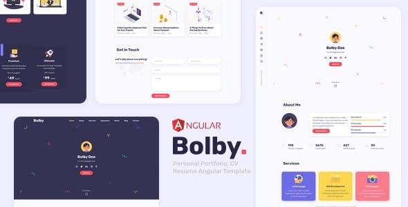 Bolby - Personal Portfolio Angular Template