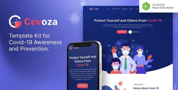 Covoza – Covid-19 Awareness & Prevention Elementor Template Kit