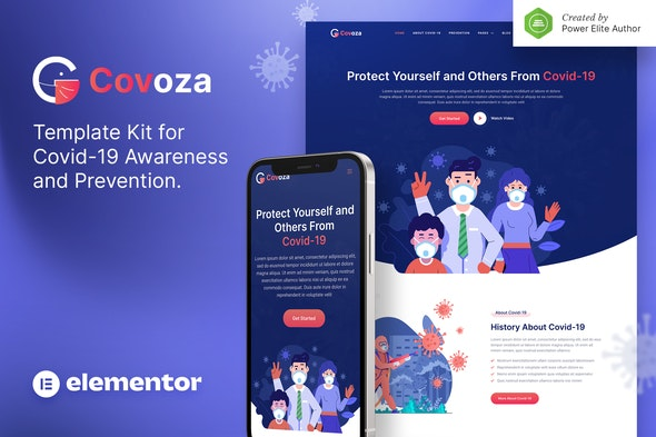 Covoza – Covid-19 Awareness & Prevention Elementor Template Kit - Health & Medical Elementor
