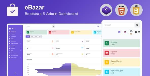 Ebazar - Ecommerce Bootstrap Admin Template