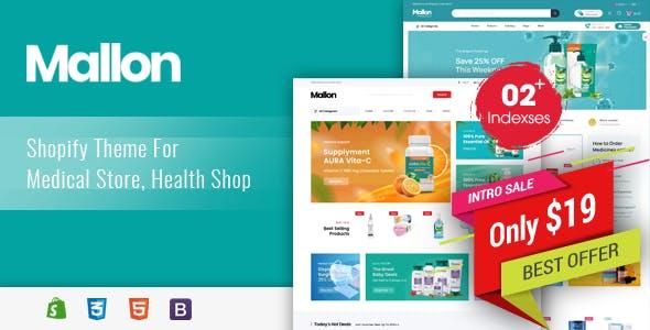 Mallon - Medical Store, Health Shop eCommerce Shopify Theme