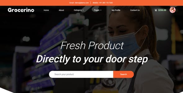 Grocerino - Online Grocery & Retail Store HTML Template
