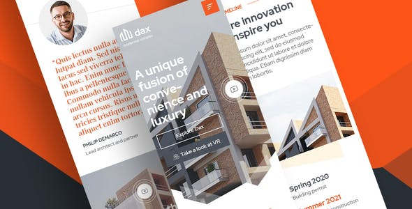 DAX - Apartment Complex Landing Page for Figma