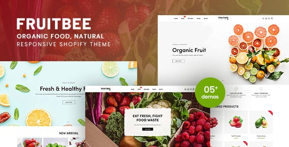 FruitBee - Organic Food, Natural Responsive Shopify Theme