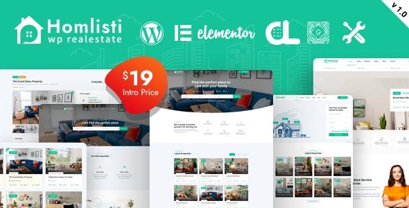 Homlisti – Real Estate WordPress Theme - Real Estate WordPress
