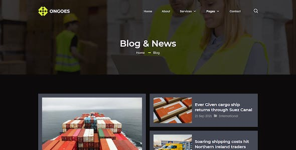 Ongoes - Shipping & Transportation Company Elementor Template Kit