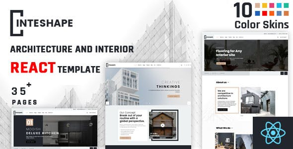 Inteshape - Architecture and Interior React Template
