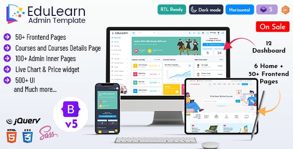 Edulearn - Education Learning Management System Admin Template