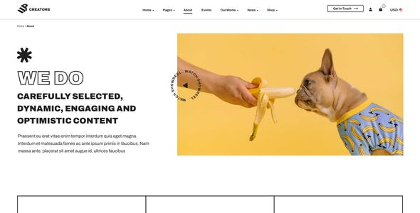 UpCreators – Creative Agency Template for XD