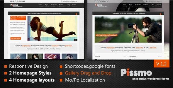 Pissmo Responsive WordPress Theme - Creative WordPress