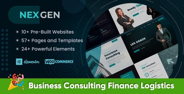 Nexgen - Consulting Elementor WordPress Theme - Business Corporate