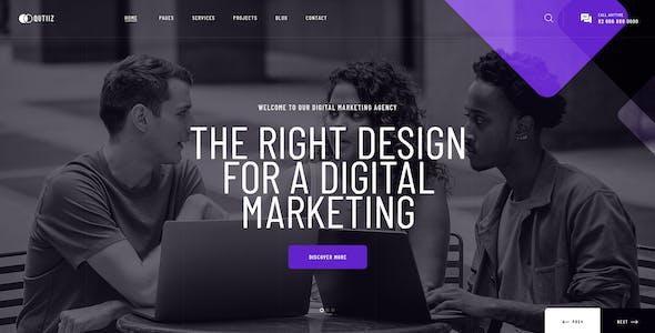 Qutiiz - Digital Marketing Agency PSD Template