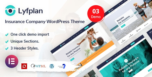 Lyfplan - Insurance WordPress Theme - Business Corporate