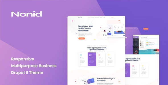 Nonid - Responsive Multipurpose Business Drupal 9 Theme - Business Corporate