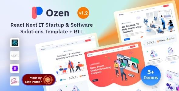 Ozen - React Next IT Startup & Software Solutions Template