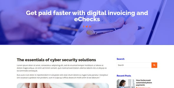 Evepay - Online Payment Gateway Elementor Template Kit
