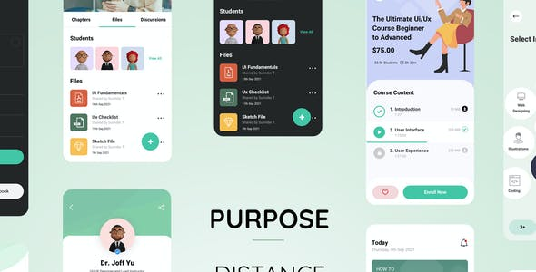 Purpose - Distance Learning App XD Template
