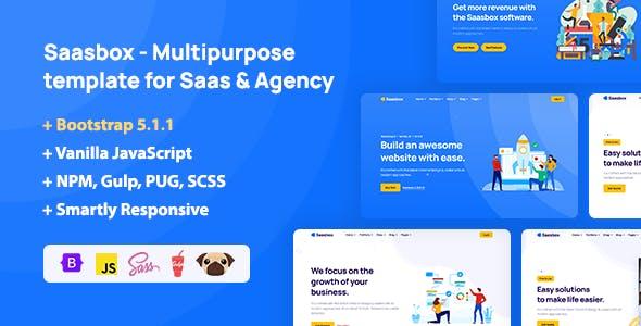 Saasbox - Multipurpose HTML Template for Saas & Agency