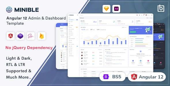 Minible - Angular 12 Admin & Dashboard Template