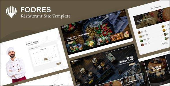 Foogra - Restaurant Site Template
