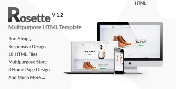 Rosette - Fashion Store HTML Template using Bootstrap
