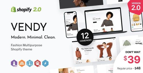 Vendy - Multipurpose Shopify Theme for Fashion