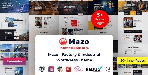 Mazo - Multipurpose Industry Factory WordPress Theme - Business Corporate