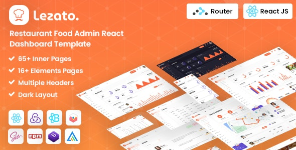 Lezato : React Redux Restaurant Admin Template - Restaurants & Cafes Entertainment