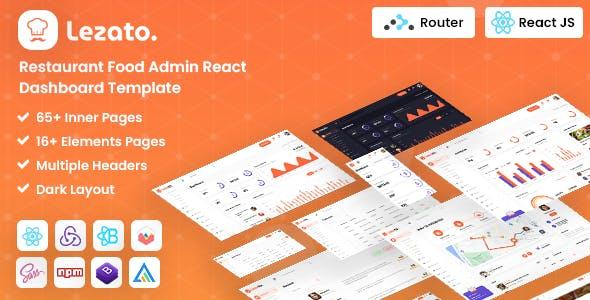 Lezato : React Redux Restaurant Admin Template