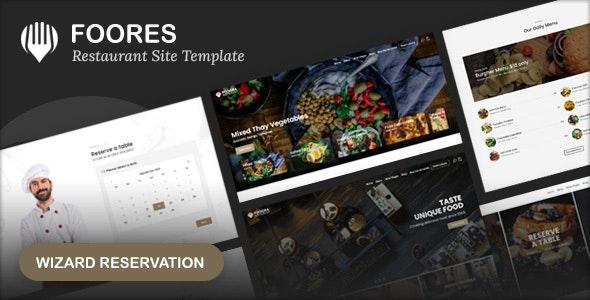 Foores v1.0 – Restaurant Site Template