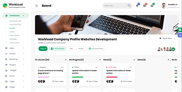 Workload | Project Management Bootstrap 5 Admin Dashboard