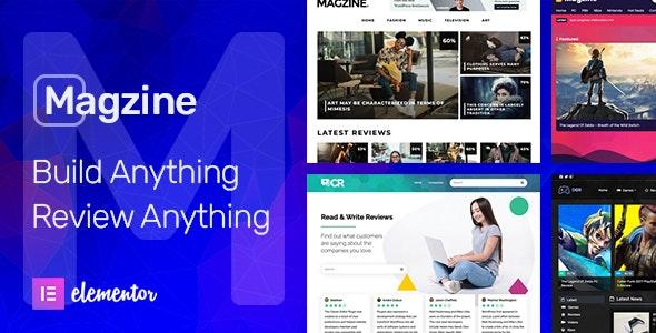Magzine v1.1 – Elementor Review and Magazine Theme
