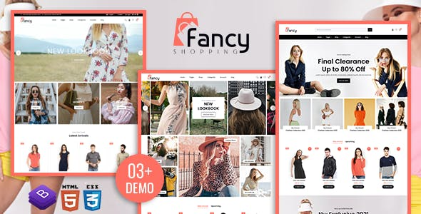 Fancy Shopping E-commerce HTML Template