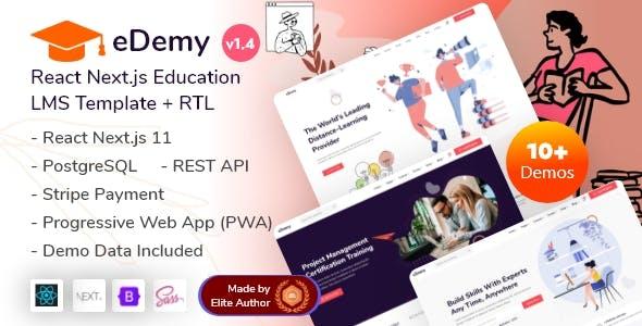 eDemy - React Next LMS Education & Online Courses Template