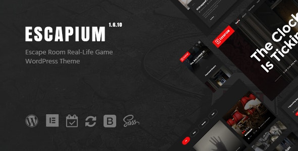 Escapium - Escape Room Game WordPress Theme - Events Entertainment