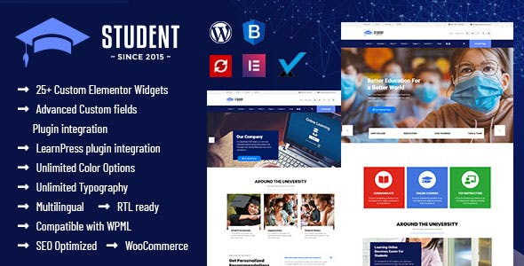 Student - WordPress Theme for University and LMS