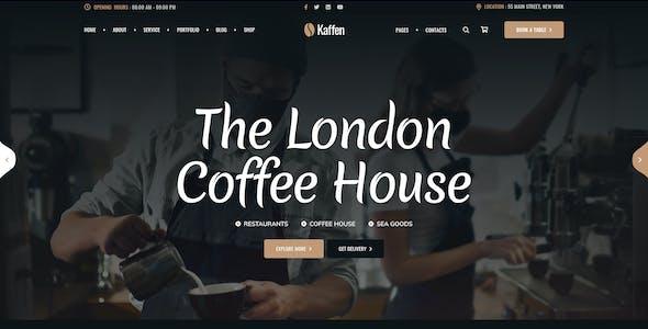 Kaffen - Coffe Shop & Restaurant PSD Template