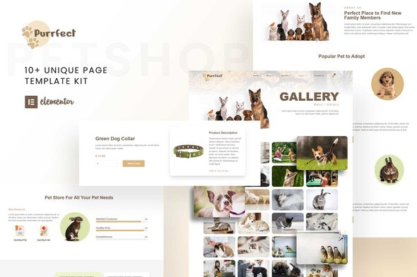 Purrfect - Pet Shop Elementor Template Kit - Miscellaneous Elementor