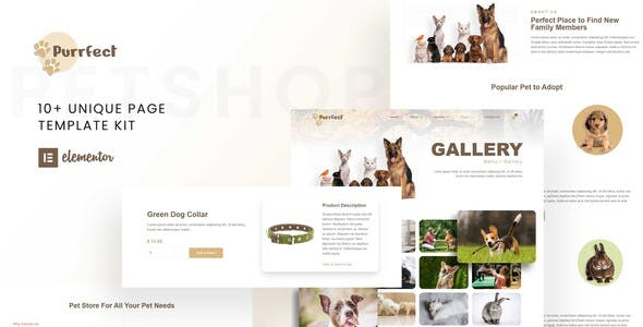 Purrfect - Pet Shop Elementor Template Kit