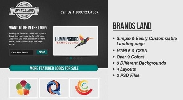 BrandsLand - Template Website - Portfolio Creative