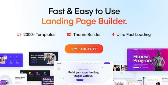 Landio - Multi-Purpose Landing Page WordPress Theme - Marketing Corporate