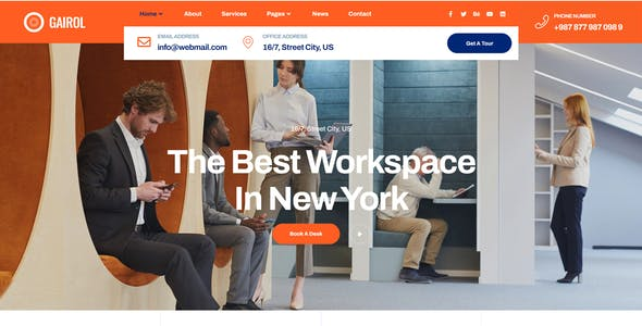 Coworking & Creative Space Elementor Template Kit