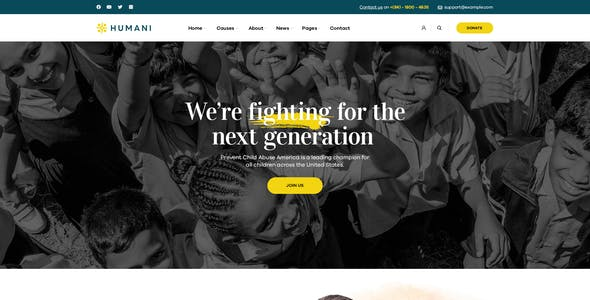 Humani - Nonprofit & Charity WordPress Theme