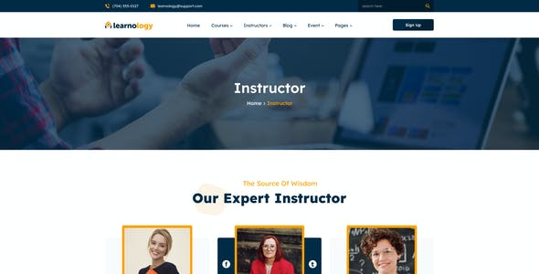 Learnology - eLearning Online Course Figma Template