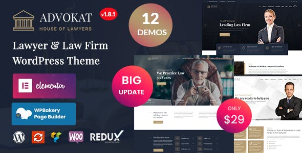 Advokat - Lawyer & Law Firm WordPress Theme