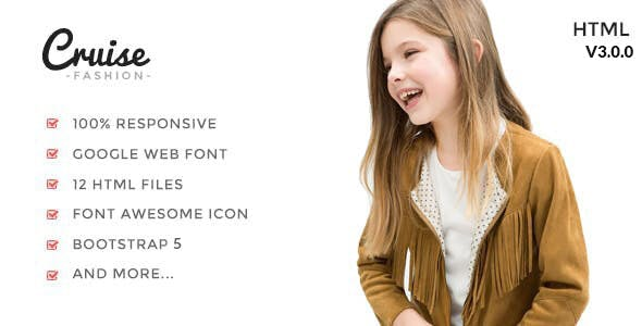 Cruise - Fashion Luxury HTML Template using Bootstrap