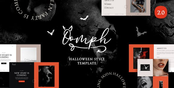 Oomph - Halloween Style Coming Soon & Landing Page Template