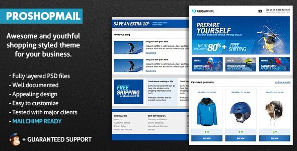 ProShopMail E-Mail Template - Email Templates Marketing